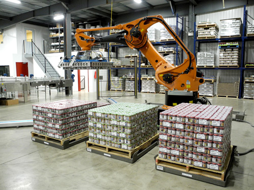 They installed robotic case picking equipment that automated their order picking process and uses scanning technology to read product codes and automatically report information into their database