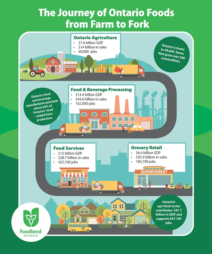 Journey of Ontario Food: from Farm to Fork