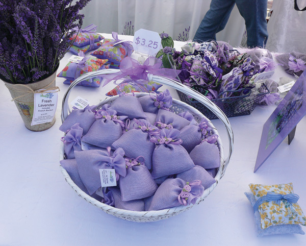 Figure 1. An image of value-added lavender products on a table.