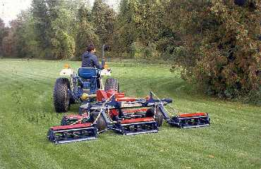 Figure 4. Gang reel mower used on a sod field.