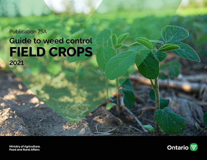 Cover for Publication 75A, Guide to Weed Control: Field Crops.