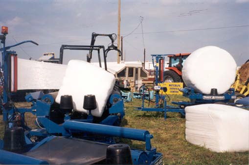 Wrapped square and round bales