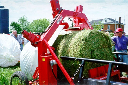 Multi-bale flex tube machine
