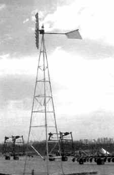 Photo of an air windmill pumping water.