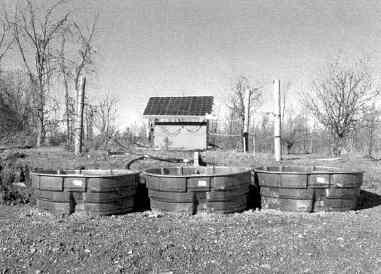 Photo of a livestock solar watering system.