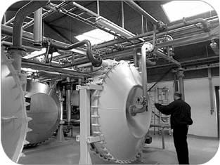 This image shows a heat exchanger used in a centralized thermophylic AD system in Denmark.