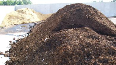 Picture of a pile of compost.