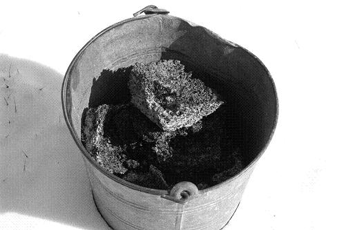 Store clinkers in a metal pail kept on a fireproof surface.