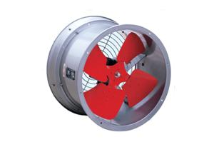 Photo of an axial flow fan.