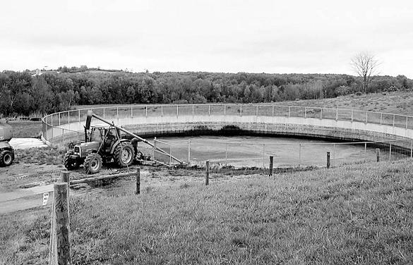 High-quality concrete is used to construct barns and manure storage structures.