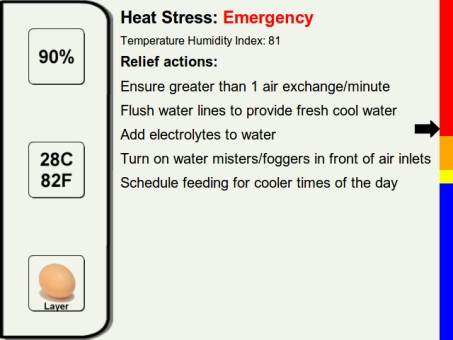 This is a picture of a page from the Heat Stress for Livestock and Poultry App