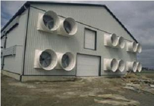 At certain times of the year, exhaust fans in barns may produce increased noise levels.
