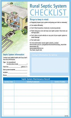 Rural Septic System Checklist