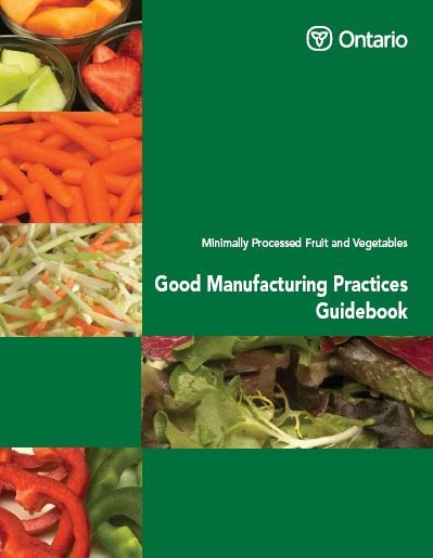 Cover photo - minimally processed fruit and vegetables - good manufacturing practices guidebook