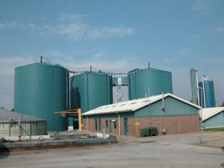Photo showing vertical totally mixed digester