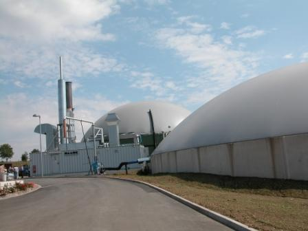 Photo showing a biogas plant
