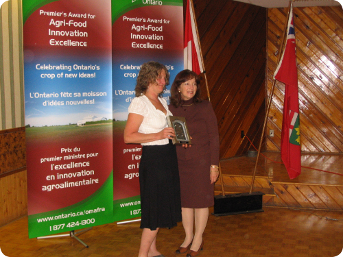 Pat Dawson; Minister of Agriculture, Food and Rural Affairs, Leona Dombrowsky