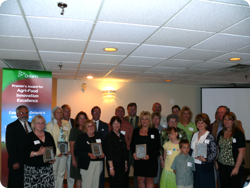 All Simcoe Regional Award Winners with Minister of Agriculture, Food and Rural Affairs, Leona Dombrowsky