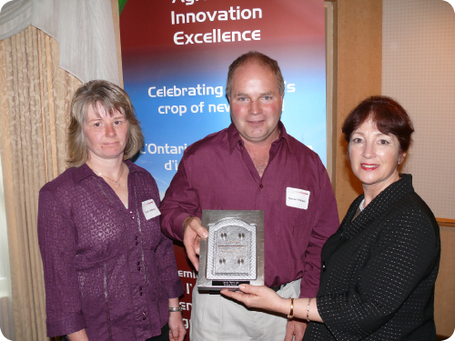 Carol & Steven Veldman; Minister of Agriculture, Food and Rural Affairs, Leona Dombrowsky