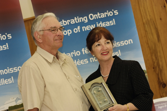 Ken Marisett; Leona Dombrowsky, Minister of Agriculture, Food and Rural Affairs and MPP for Prince Edward-Hastings