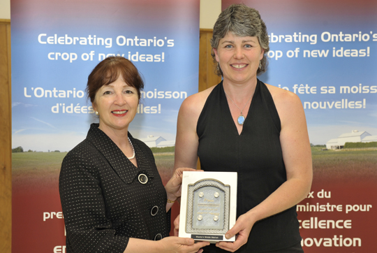 Leona Dombrowsky, Minister of Agriculture, Food and Rural Affairs and MPP for Prince Edward-Hastings; Wendy Banks