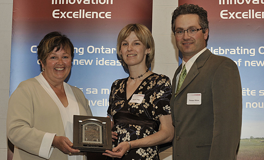 Carol Mitchell, Minister of Agriculture, Food and Rural Affairs,	Nicole	Judge,	and Thomas Wilson