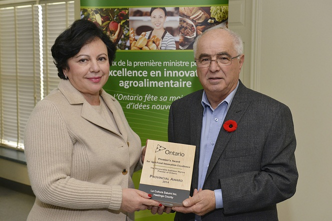 Photo of Jane Aballe and MPP Lou Rinaldi