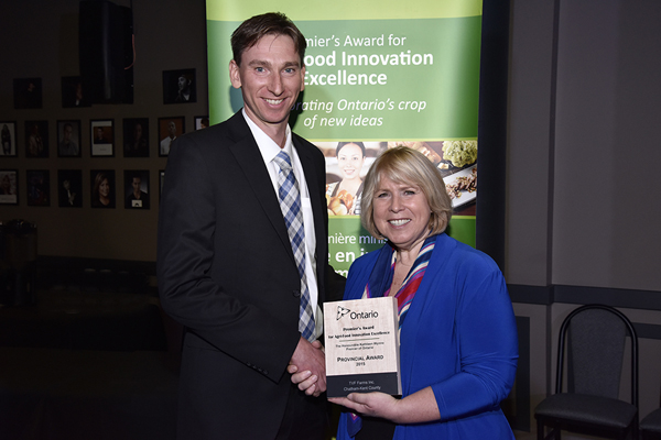 Jeff VanRoboys and Deb Matthews, Deputy Premier and President of the Treasury Board