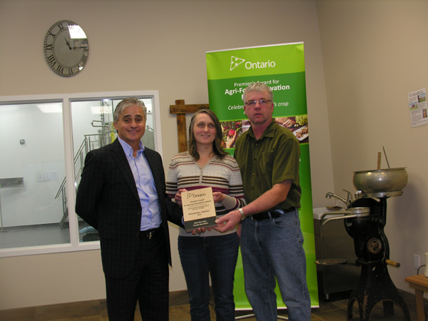 Minister of Natural Resources and Forestry, Bill Mauro, Wilma Mol and Jim Mol
