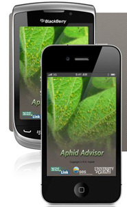 L'application mobile Soybean Aphid Advisor.